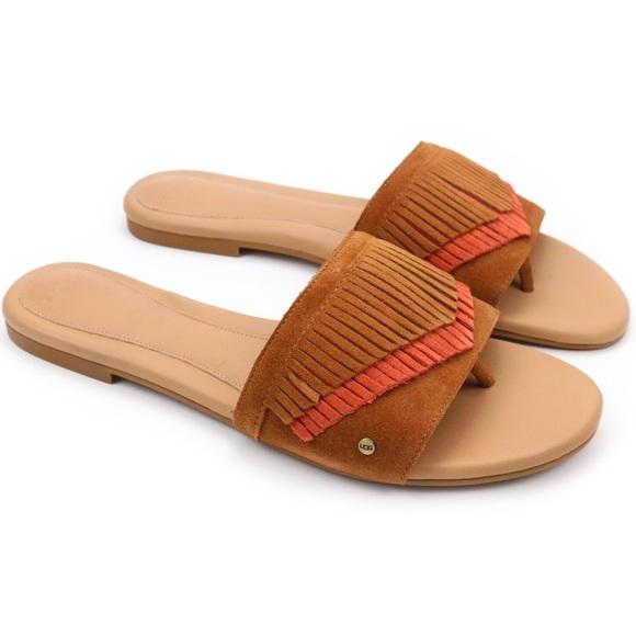 1f79184d27b UGG Binx Chestnut Suede Boho Sandals 💎 Boutique